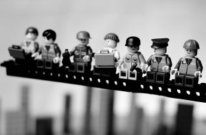 Lunch Atop a Skyscaper in LEGO